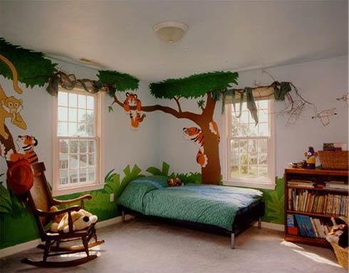 sienų, lubų tapyba vaiko kambaryje