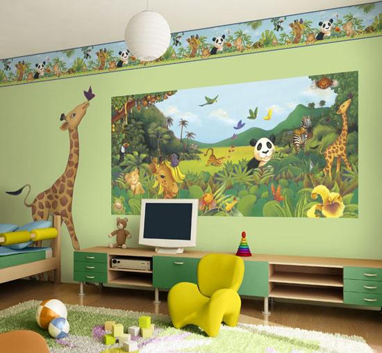 fototapetai vaiko kambaryje ant sienos