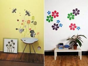vaiko kambario sienu dekoravimas lipdukais