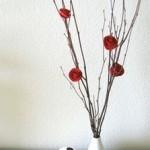 Popierinių rožių kompozicija