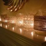 Stilingos žvakidės iš stiklainių