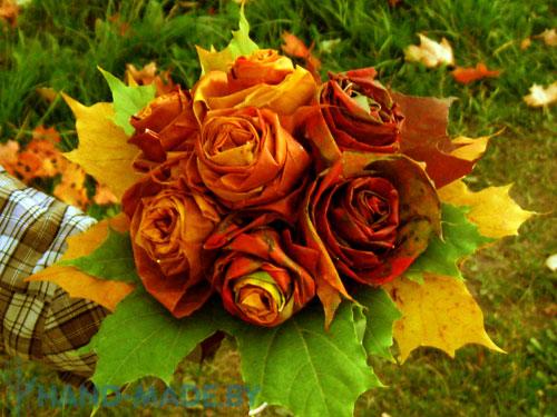 Rudeniniai klevo lapų žiedai