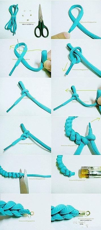 Apyrankė iš batų raištelių, kaip pasidaryti