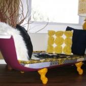 sena vonia, nauja sofa