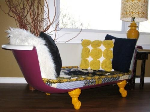 sena vonia - nauja sofa