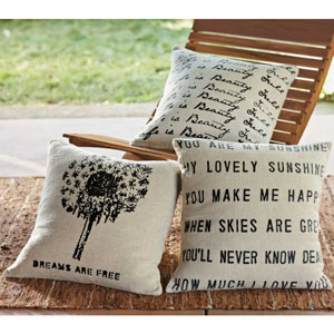 vivaterra you are my sunshine linen pillows