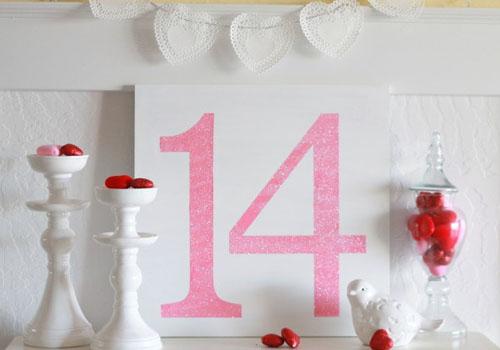 baltas paveikslas 14 Valentino dienai