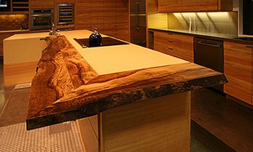 medinė stalviršio apdaila