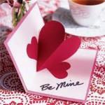 Rankų darbo atvirutės Valentino dienos proga