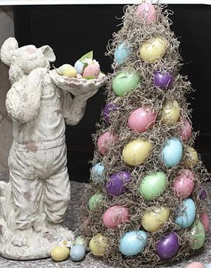 kiaušiniai, samanos ant eglutes karkaso