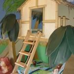 Žaidimų namukai vaikų kambariuose