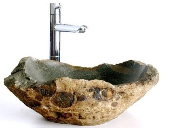 Natūralaus akmens kriauklės vonios kambariui