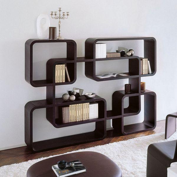 Originalių formų lentynos namuose