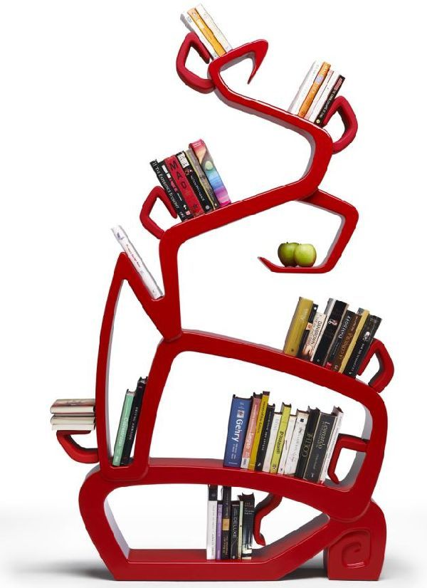 Red-tree-bookcase