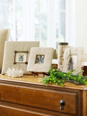 Namų dekoro detalės iš maišinės medžiagos