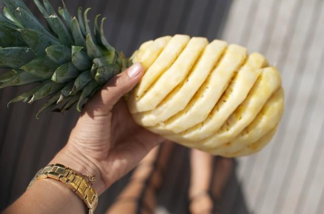 suraikytas ananasas