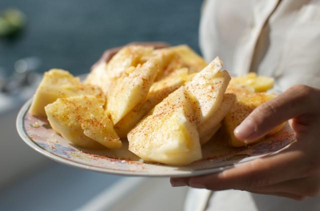 druska, čili, ananasas, patiekalas