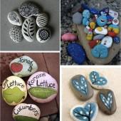 piešiniai ant akmenėlių