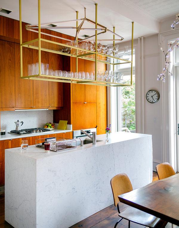 virtuvės sala - stačiakampis blokas