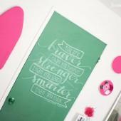 žalios durys, lenta rašyti kreida