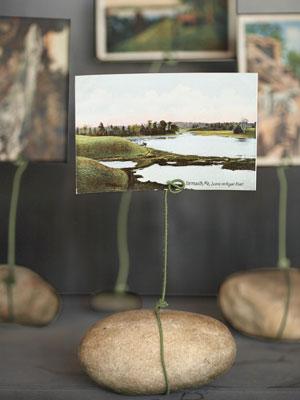 Nuotraukos laikiklis iš akmenuko ir vielutės