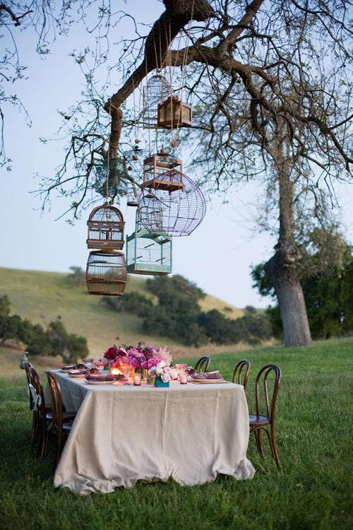 pauksciu narveliai stalas lauke