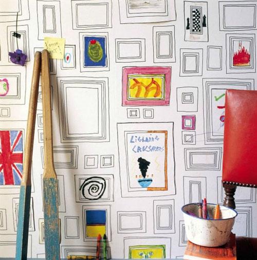 pieskite paveikslus ant sienos