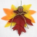 Žmogeliukai iš rudeninių lapų