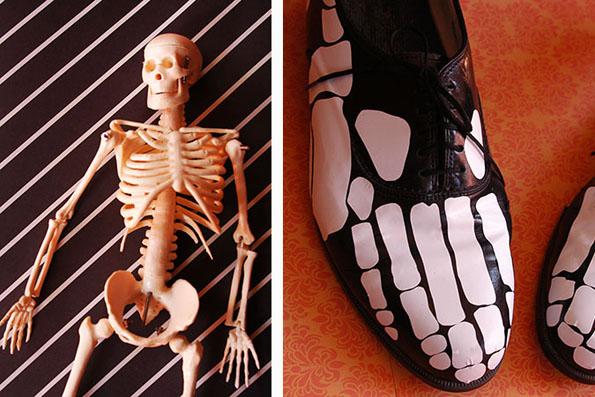 skeletas kaulai batams