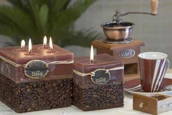 kavos pupeles rudos zvakes