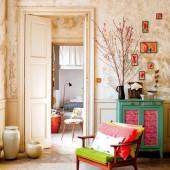 Spalvinė šiluma buto interjere Prancūzijoje