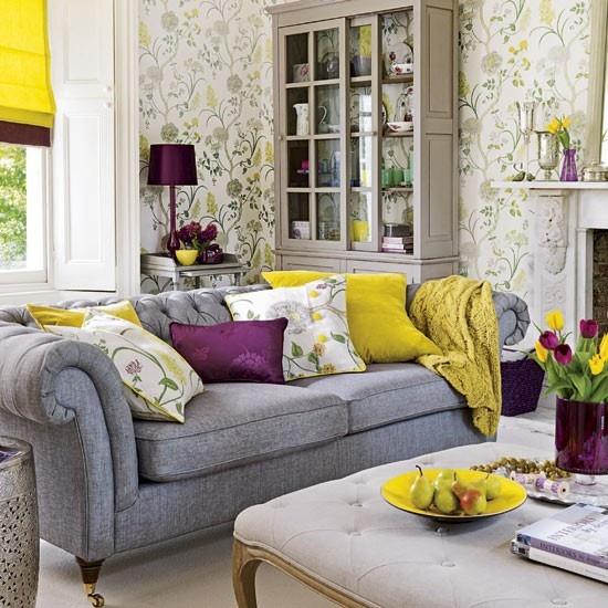 geltona pilka violetine pagalveles geles svetaine