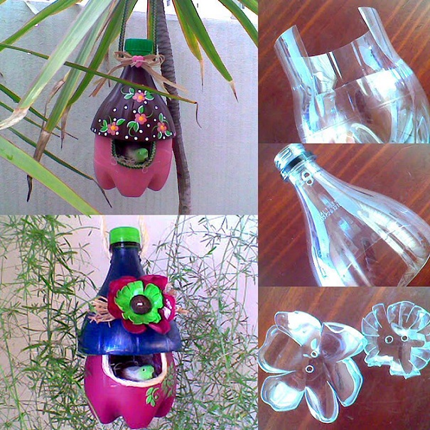 plastikinis butelis inkilas