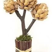 Dekoratyvinis medelis iš pistacijų