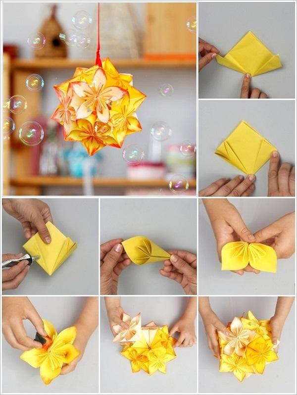 Kusudama – dekoratyvinė gėlė japoniškai