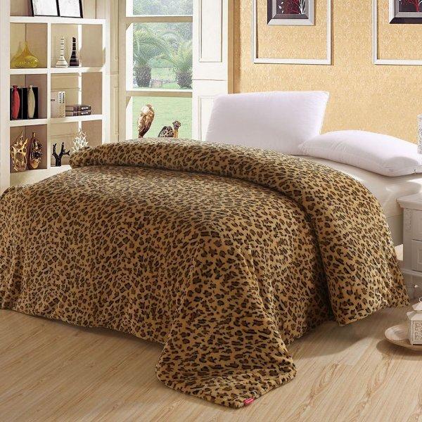 leopardo kailio spalvos antklode, lova